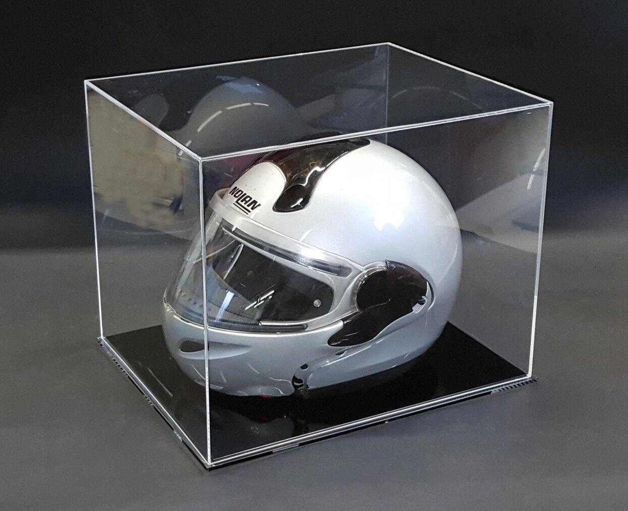 Teca - vetrinetta per casco auto / moto in plexiglass. Cm. 40 x 32 x H. 30