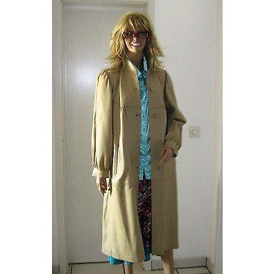 Damen Mantel vintage Ledermantel, beige/hellbraun, 38, tadellos, schöner Schnitt