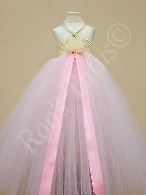 Baby Pink occasion tutu dress. Party, flowergirl, bridesmaid, christmas princess