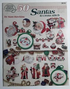 50-Santas-To-Cross-Stitch-Sam-Hawkins-American-School-of-Needlework-Christmas