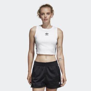 Adidas-Originals-Crop-Tank-Women-White-Black-Lifestyle-Fashion-New-girl-DH3163