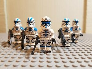 Lot-of-5-501st-Clones-With-Lieutenant-Jesse-FREE-SHIPPING-US-Custom-MOC-Minifigs