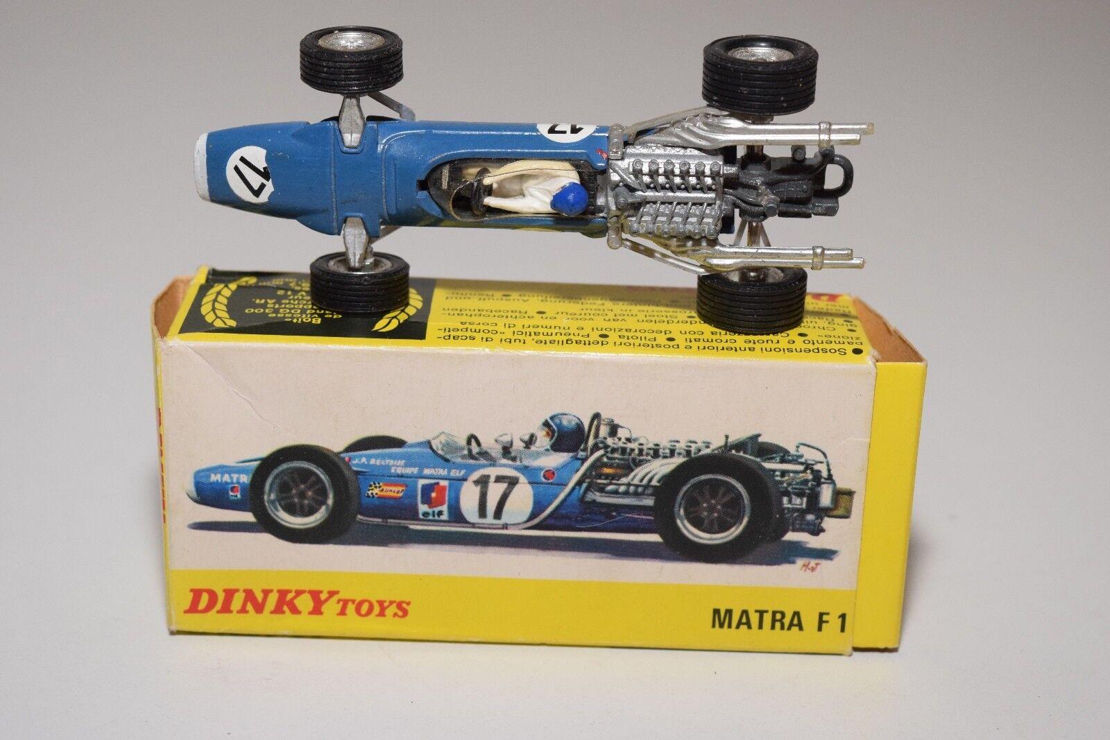 .- DINKY TOYS 1417 MATRA F1 FORMULA 1 RACING CAR CAR CAR blueE EXCELLENT BOXED 9726e3