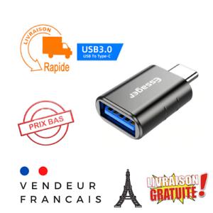 Adaptateur USB type C 3.0 mâle vers USB femelle OTG téléphone chargeur