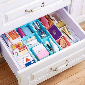 3 Slot Adjustable Drawer Organizer Home Kitchen Board Divider Makeup Storage New