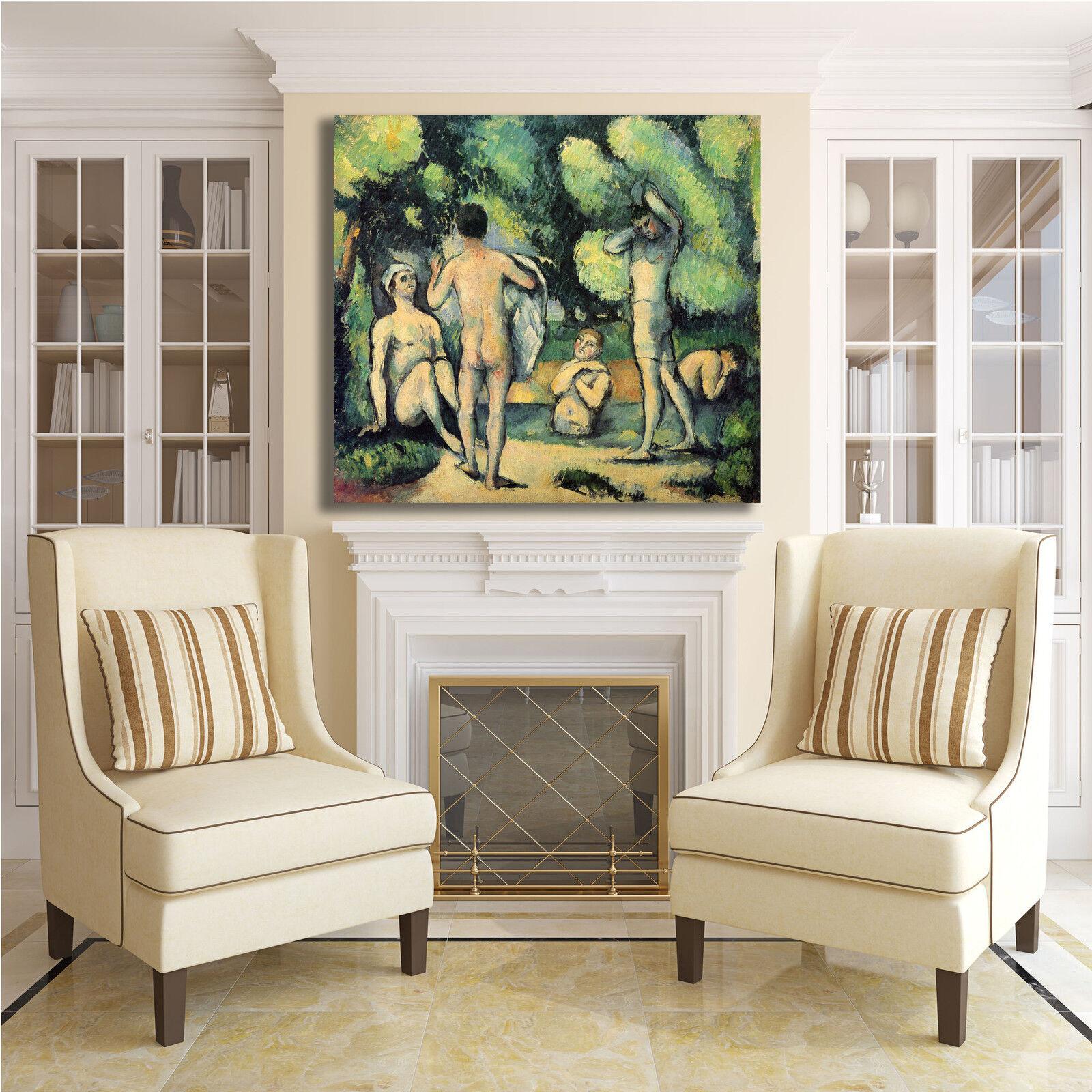 Cezanne Cezanne Cezanne bagnanti 8 design quadro stampa tela dipinto con telaio arRouge o casa b95b9c