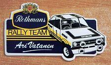 Rothmans Rally Team Ford Escort Mk2 Ari Vatanen Motorsport Sticker Decal