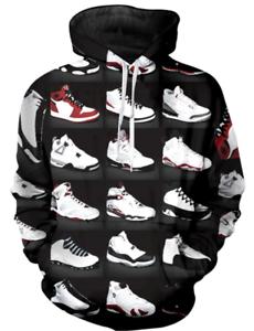 Details about Michael Jordan 3D Hoodies New Style Shoes Black Fashion Men  Women Size S - 6XL
