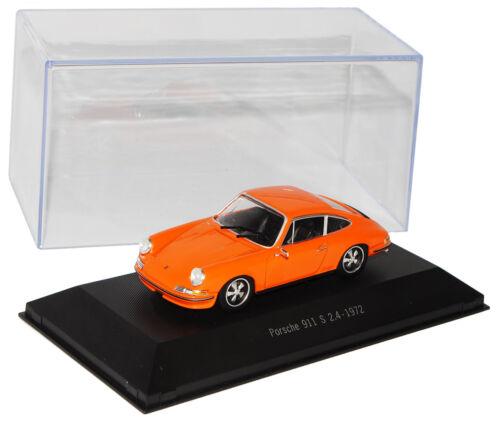 Porsche 911 Urmodell S 2.4 Coupe Orange 1963-1973 1//43 Atlas Sonderangebot Mod..