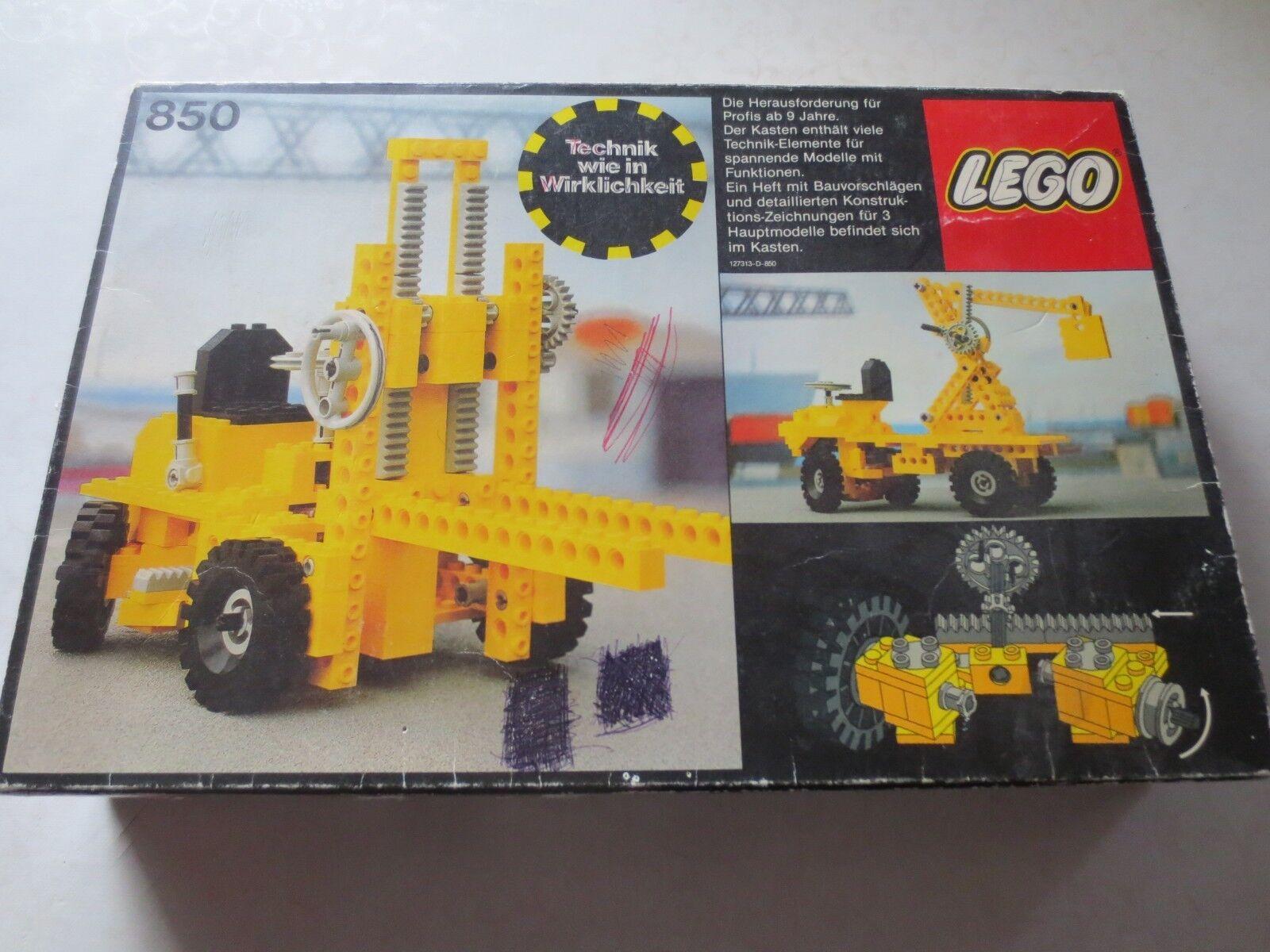 Lego Technic Gabelstapler 850 von 1977 mit OVP ohne Anleitung