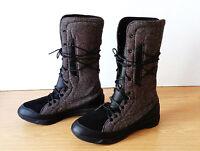 Damen Schuhe Stiefel PUMA Gr 38 UK 5 schwarz grau neu