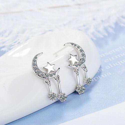 Elegant Women/'s Girls 925 Silver Earrings Ear Stud Wedding Party Jewelry Gifts