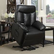 Electric Lift Chair Recliner Black Leather Power Motion Lounge Medical Seat & Electric Lift Chair Recliner Black Renu Leather Power Motion ... islam-shia.org
