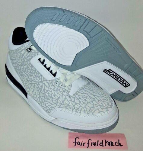 plateado Size11 Retro 3 negro Nike Air 315767 Plata Blanco Jordan 101 Flip nPwqFZqx