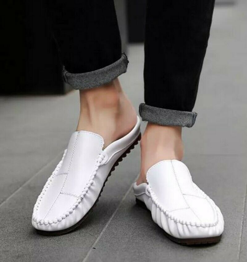 Summer New Mens Loafers Mules Slip On Sandals Slippers Casual shoes Outdoor Size