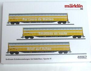 """Märklin 48062 Großraum-Schiebewandwagen-Set """"Brief auf Achse"""" 3-teilig #NEU OVP#"""