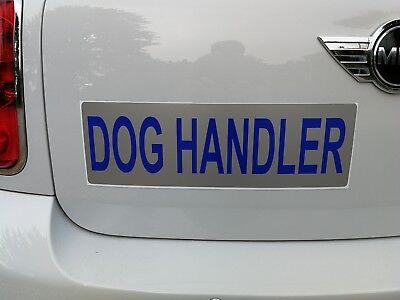 DOG HANDLER Magnet Doorman K9 Unit Handler Car Door Magnets 460x150mm x 2