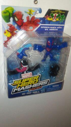 "Spider man 2099 vs venom Marvel Super Hero Mashers Micro 2.5/"" Action Figures"