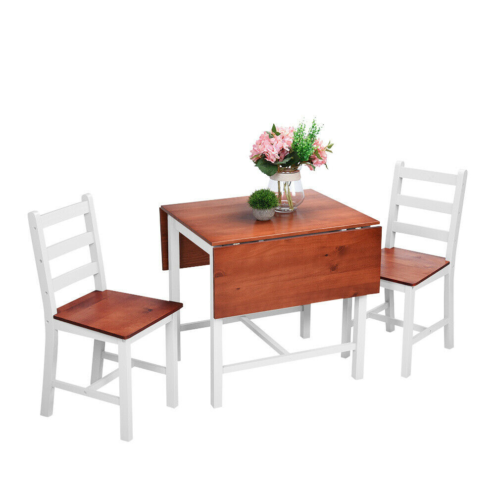 Folding Dining Table And Chairs Set With Castors Extending Drop