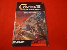 Contra 3 III The Alien Wars Super Nintendo SNES Instruction Manual Booklet ONLY