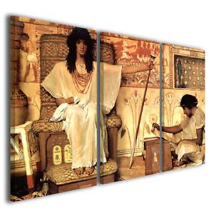 QUADRI-FAMOSI-ALMA-TADEMA-JOSEPH-OVERSEER-OF-PHARAOHS-GRANARIES-STAMPE-SU-TELA
