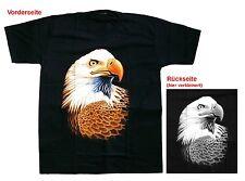 Biker Rocker T-Shirt:Adler + Bike, Gr.2XL, XXL Wolf,Wölfe,Eagle,Indianer Cowboy