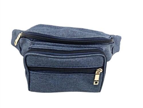 Plain Mulit Pocket Bumbag Waist Belt Pouch Travel Sport Holiday Bum Bag