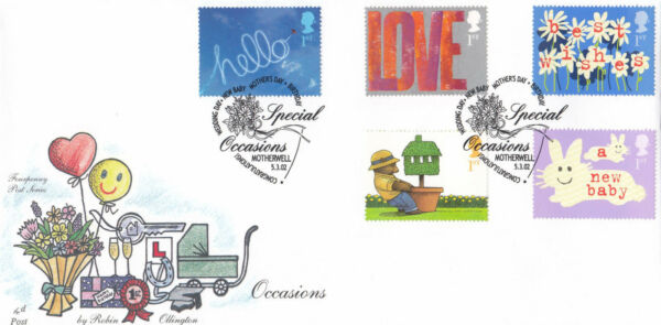 (17584) Gb Fourpenny Post Fdc Occasions Motherwell 2002
