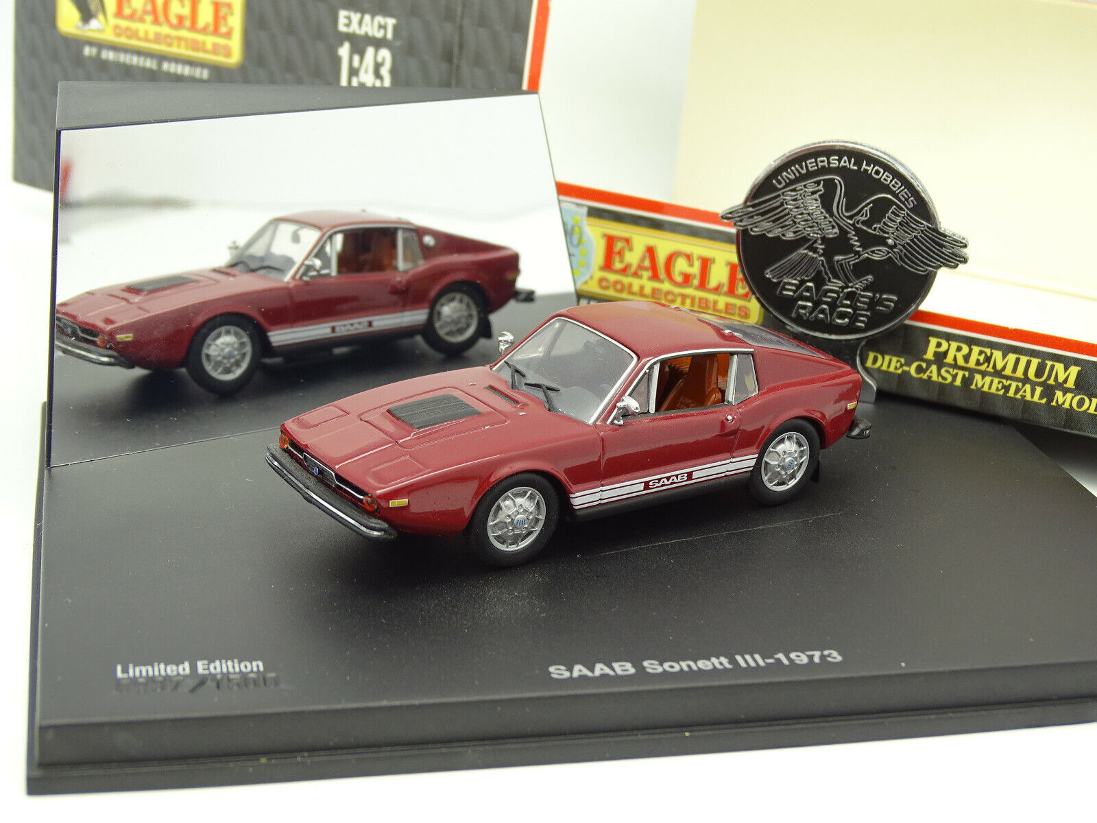 Universal Hobbies UH 1 43 - Saab Sonett III 1973 red