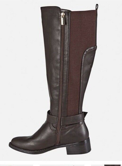 Avenue Women's Tall Brown Boots With gold Detail 13w 13w 13w 7d36dc