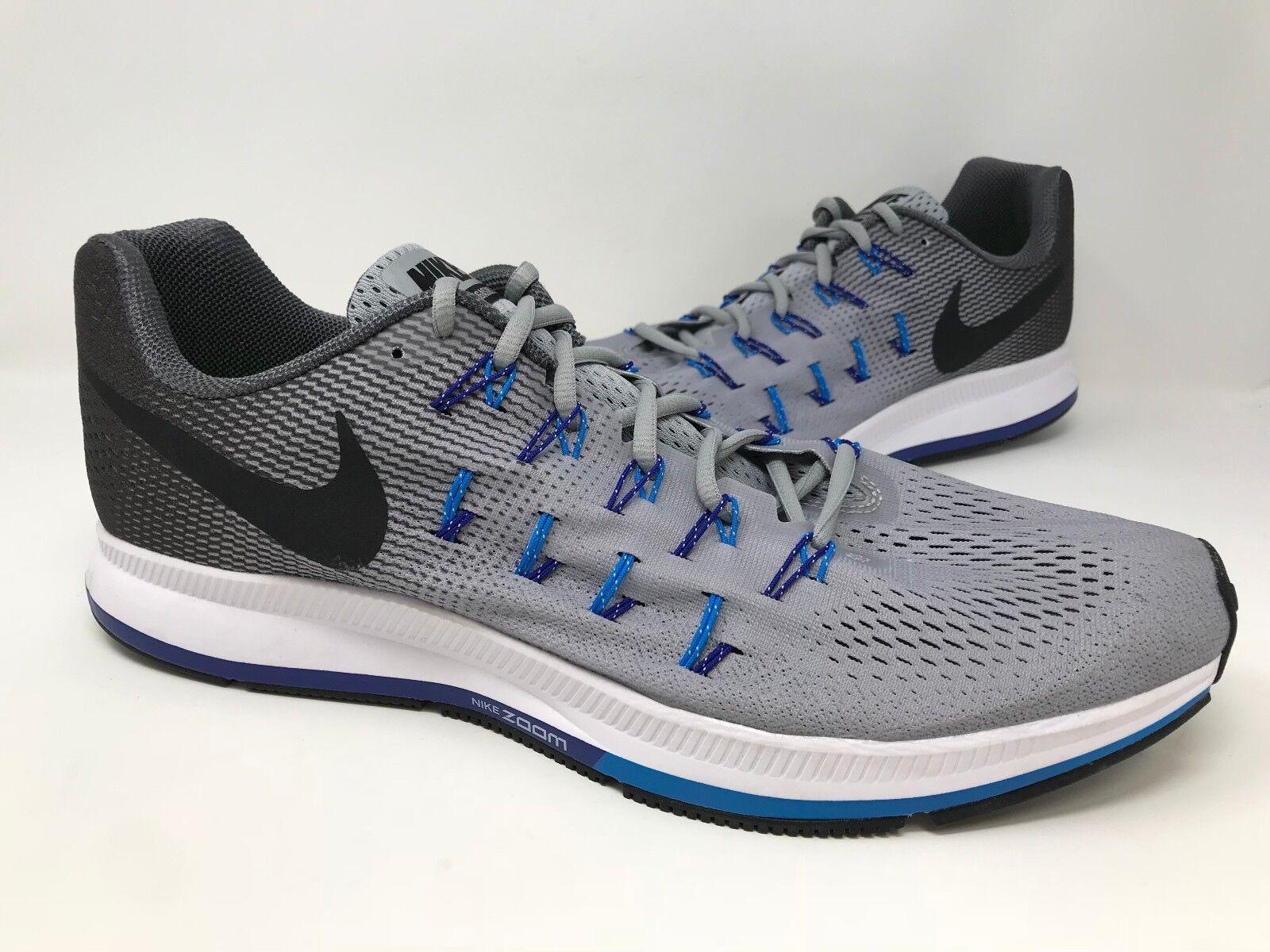 Di nuovo!uomini 831352-004 nike air zoom pegasus 33 scarpe scarpe 33 da corsa grigio / blu / nero o43 d19951