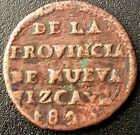 1823 MEXICO Empire of Iturbide 1/8 Real KM# 299 NUEVA VIZCAYA Very Nice!!!