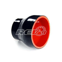 Black 4 Layer Silicone Hose Straight Reducer 2.25 To 2.75 Inner Diameter