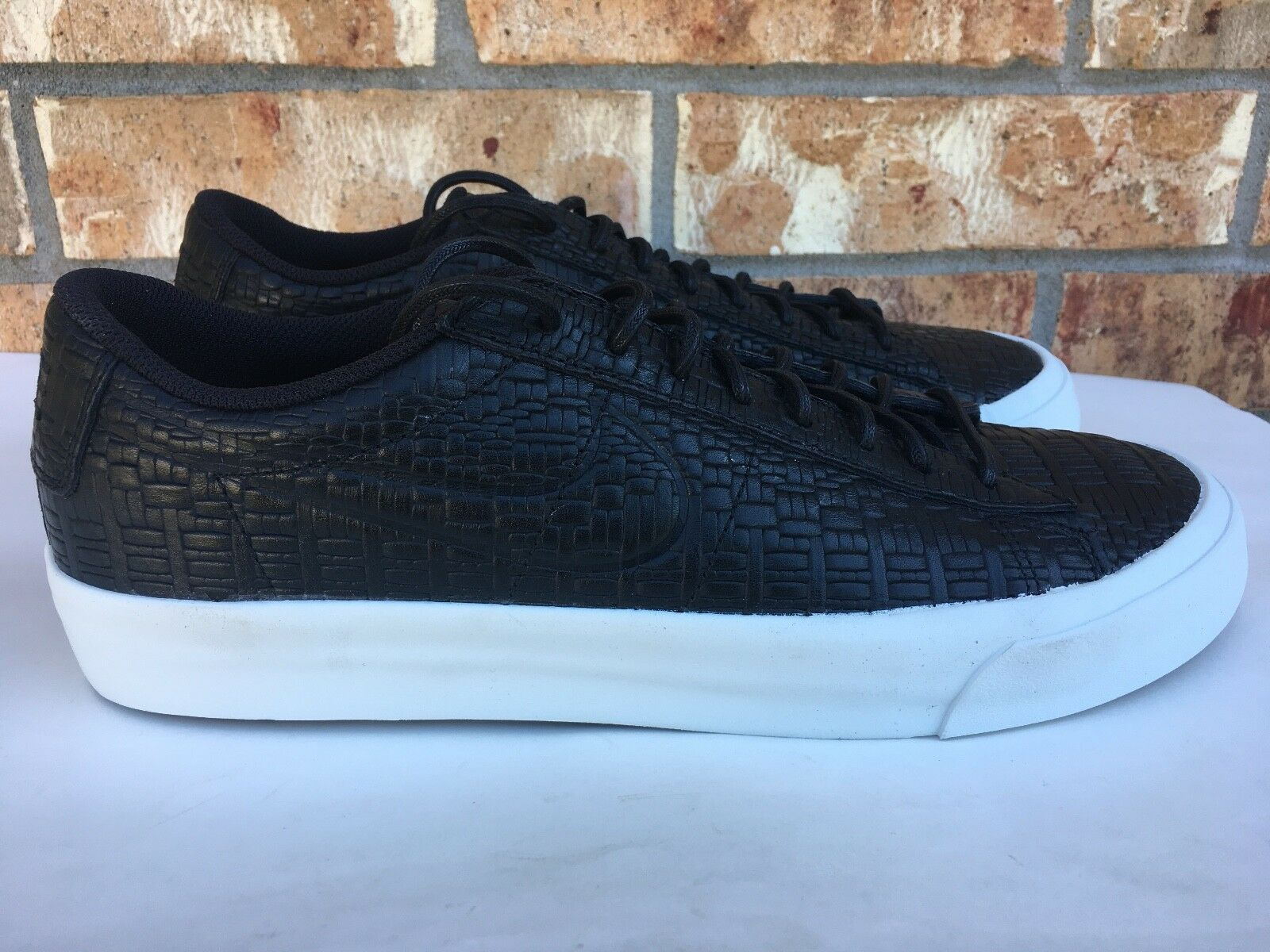 Hommes Nike Blazer Studio Low Noir blanc Croc Athletic Chaussures Sz 10.5 880872-001