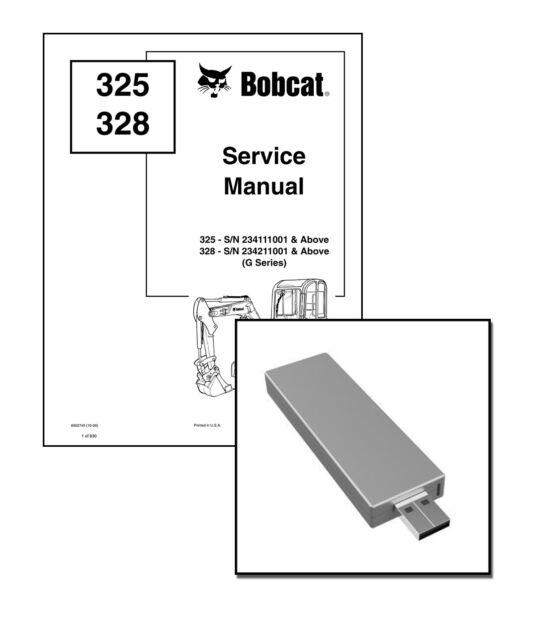 Bobcat 325 328 G Compact Excavator Service Manual Shop Repair Book 6902745