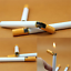Newly-Windproof-Jet-Flame-Cigarette-Shaped-Cigar-Lighter-Refillable-Butane-Gas thumbnail 2