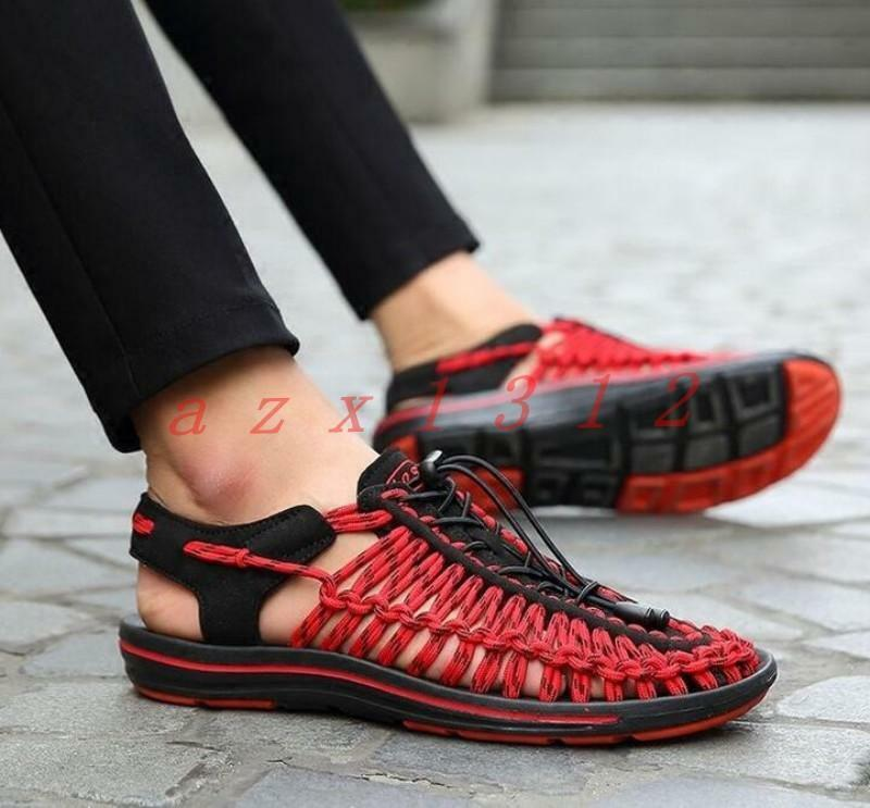 New Hollow Out Mens Sports Sandals Cross Lace Up Casual Slingbacks shoes Comfy