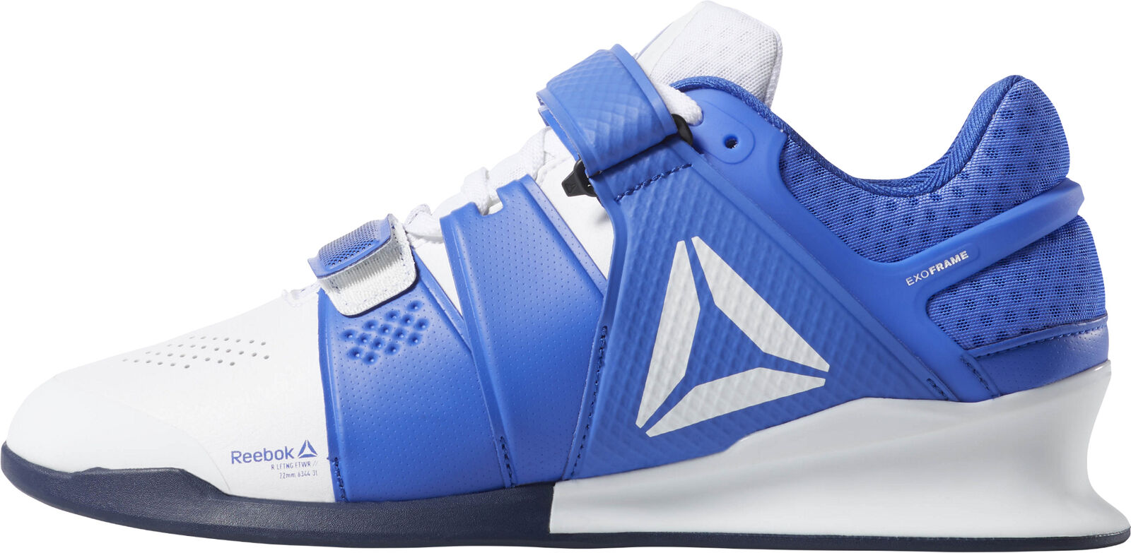 Reebok legacy  lifter mens weightlifting shoes white bluee gym bodybuilding boots  simple and generous design