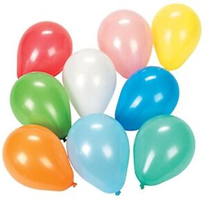 """576 - 5"""" Assorted Color Helium Quality Balloons - Carnival Dart Water Birthday"""