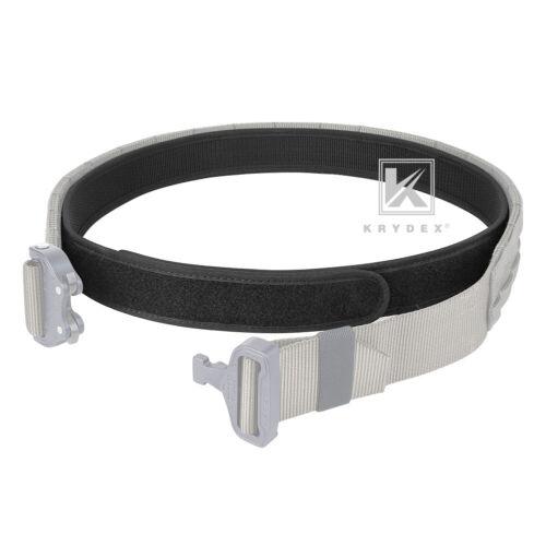 KRYDEX 1.5inch Duty Inner Belt Tactical EDC Waist Belt Nylon Black w// Loop Liner