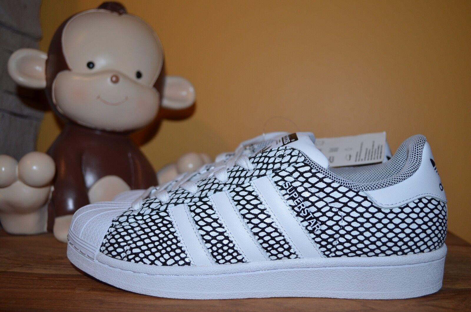NEW ADIDAS ORIGINALS SUPERSTAR SZ SNAKE PACK Shoes MEN SZ SUPERSTAR 9.5 10 White/Black S82731 d0baa5