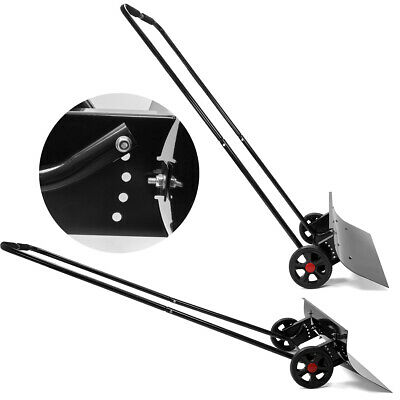 Adjustable Angle Snow Wheeled Shove Walk behind Pusher Angled Wide Steel Blade