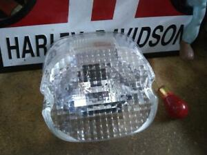HARLEY-NEW-NOS-CLEAR-Lens-cover-REAR-TAIL-LAMP-SPORTY-FX-XL-softail-glide-FXR-ST