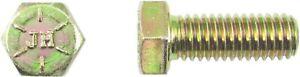 Sechskantschraube-7-16-14-UNC-x-1-1-4-Grd-8-gelb-verzinkt-Hex-Head-Tab-Bolt