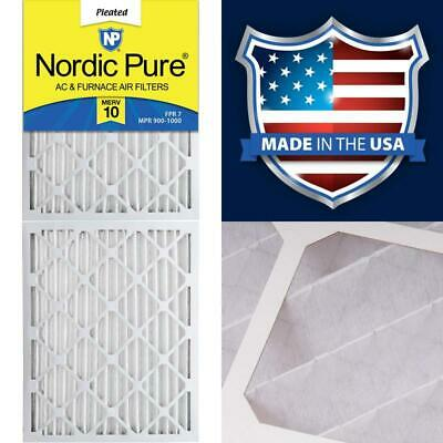 Nordic Pure 20x25x2 MERV 13 Pleated AC Furnace Air Filters 2-Inch 3 Pack