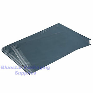 Grey-Quality-Strong-Plastic-Poly-Postage-Mailing-Bags-Self-Seal-UK-Made