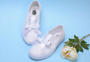 White Lace VANS shoes for bride Wedding