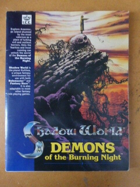 Demons of the Burning Night Rolemaster Shadow World By I.C.E