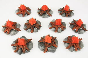 TIMPO-TOYS-10x-Lagerfeuer-fuer-Indianer-Apache-Cowboy-Ritter-bonfire-Fire