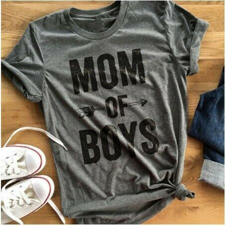 Mom Of Boys Tshirt Mother/'s Day Gift Mommy Shirt Women T-shirt Mother Top Blouse